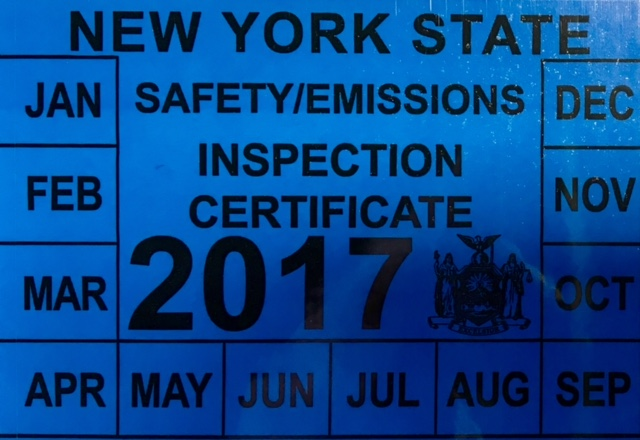 Nys car inspection sticker 15